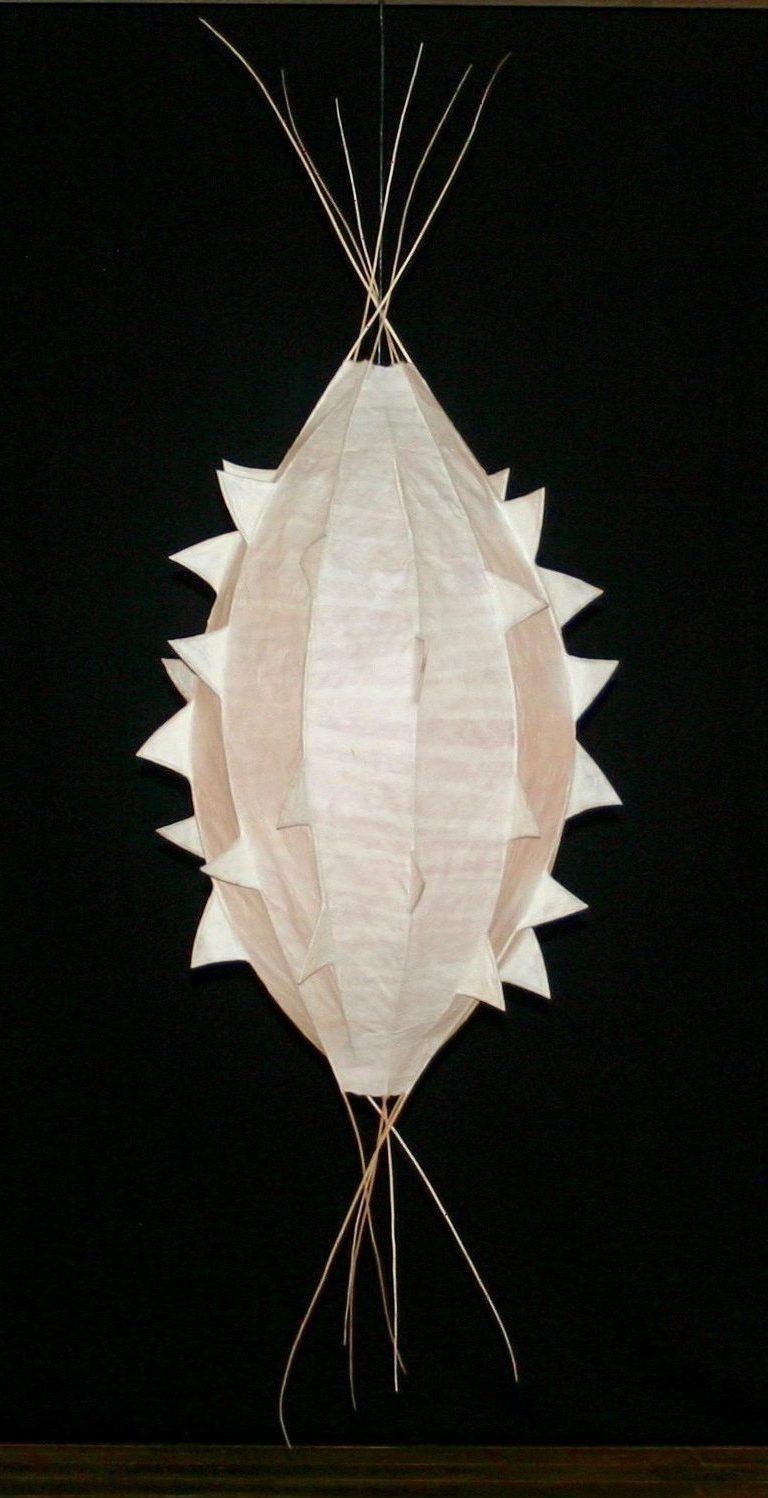 Papier-Licht-Objekt, light sculpture